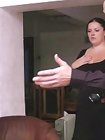 Photo shoot turns into mean hard fucking for a silly young BBW cutie