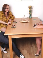 Brunette plumper got fucked by a husband on the birthday of his own wife