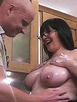 Fat jugs covered in cream