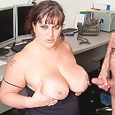 Desperate young fattie came to a job interview and got fucked by her sly horny boss
