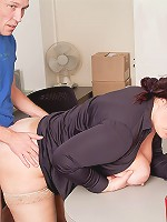 Sexy young BBW cutie fucks her future boss in exchange for a special bonus at her work