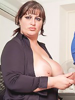 Cute fat job candidate fucks her future boss in the office for that special bonus