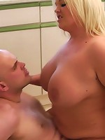 Ultra cute young fat blonde seduces her employer and rides his hot hard meat