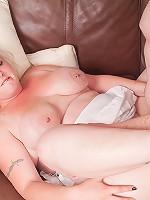 Fat blonde fucks repairman