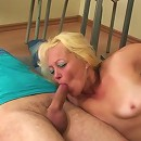 The young guys get their teacher on her knees and they fuck her mature pussy and mouth
