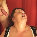 She is a true mature slut letting these guys fuck her mouth and mature asshole