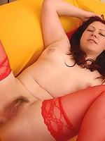 Horny plumper Jinger pumped hard
