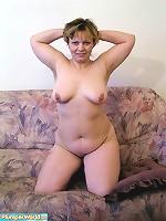 Chubby shows off her curves and dildos