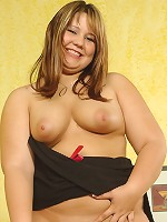 Chubby Teen Playing With Dildo
