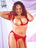 Big boobed dilettante brunet showering her heavy Melons.