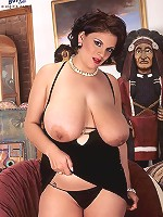 Busty tarts getting off riding a monster sized guns.