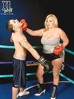 Brandy talore and audra mitchells big dd breast strip show.