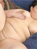 Lusty Brunette BBW!
