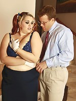 Gorgeous BBW in a teasing picture set