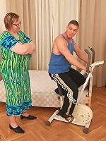Milly wanted her physical ed. student to demonstrate his prowess on her exercise machine and show a little backbone.
