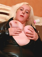 Dirty slut clair gets her 40ddd tits filled with a cock in between them