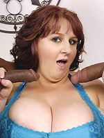 We welcome back Sapphire as she tells us that she still hasn't satisfied her black chocolate dong craving. So we had not one, but TWO big black dicks for her